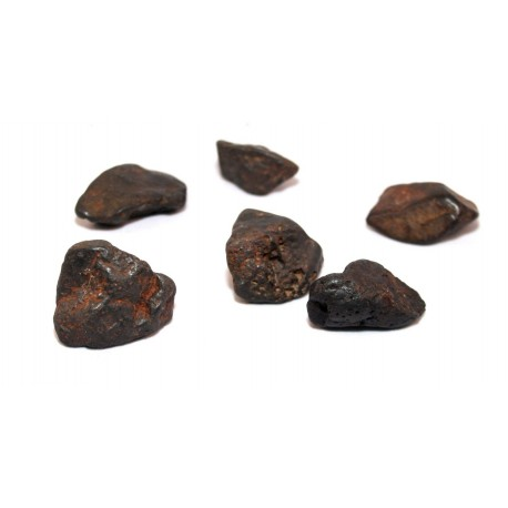 Chumpi stones Meteorite Peruvian Shaman 7 pieces without carved ANDEAN REIKI