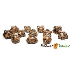 Chumpi khuyas Alabaster Shaman 12 STONES SET(mastana, florida water, rattle, etc)