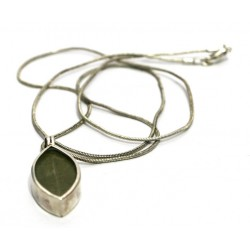Real Coca leaf pendant from Peru (950 silver)