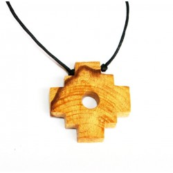 Palo santo , Holy Wood Chakana Necklace from Peru PALO SANTO ART