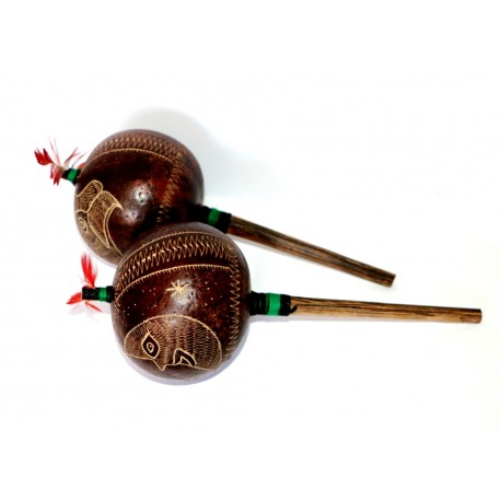 Ayahuasca or reiki ceremony Rattle ( 2 pieces) OTHER PERUVIAN HANDICRAFTS